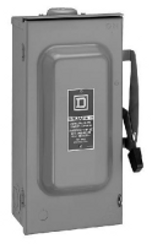 Square d d323nrb ac disconnect nema 3r 100a 240v 3 pole for 3 phase motor disconnect switch
