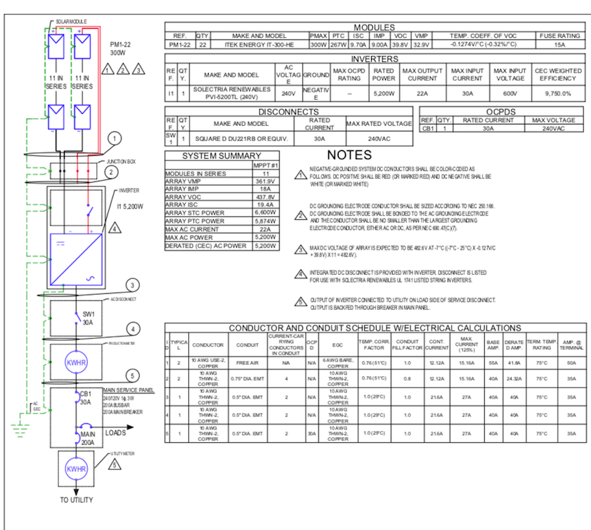 residential single line diagram  u2013 solerus energy