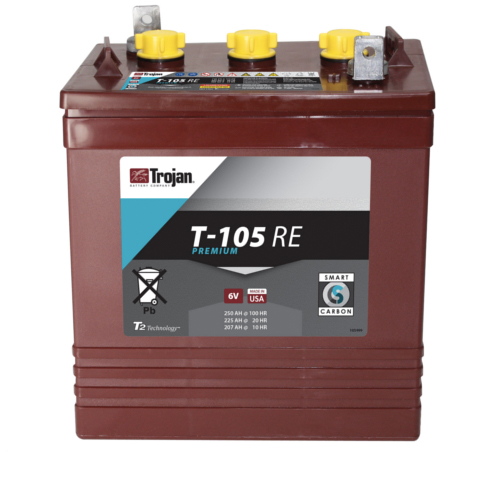 Trojan T105 Re Deep Cycle Battery 6v 225ah Solerus Energy